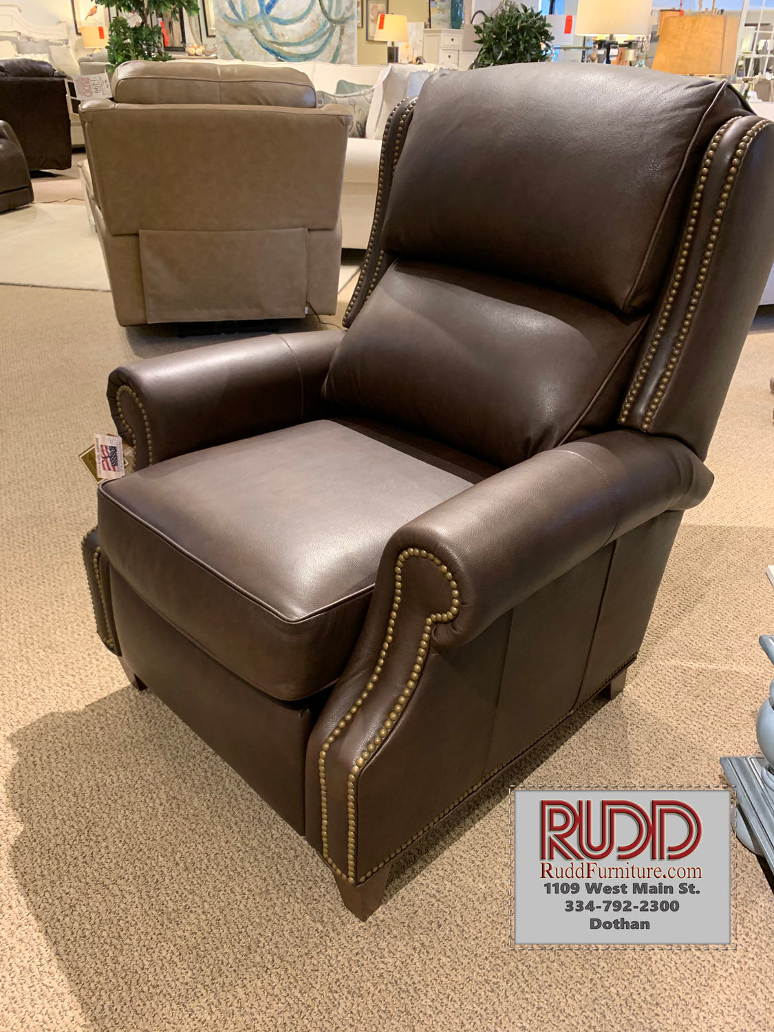3020 Huss Leather Recliner By Bradington Young Rudd Furniture
