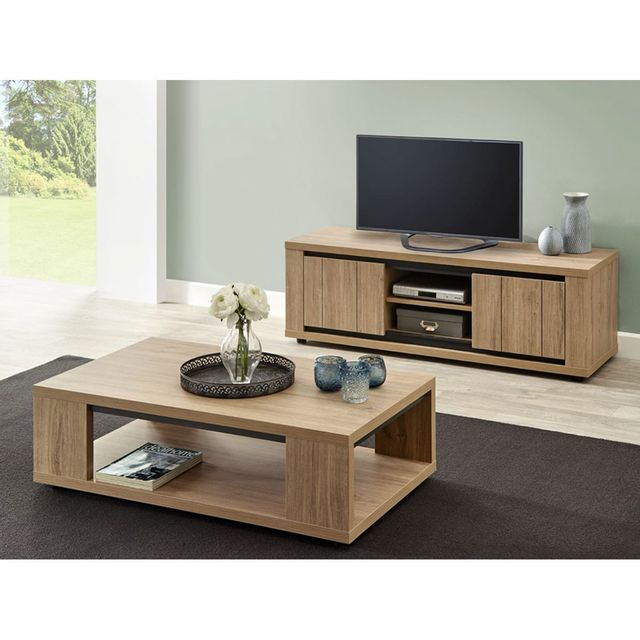 Ensemble Meuble Tv Buffet Altobuy - Kirsten - Ensemble Table Basse Et Meuble Tv
