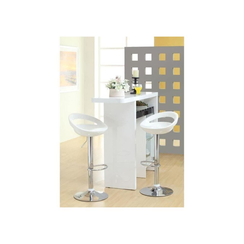 Marque Generique Tabouret De Bar Moon Lot De 2 Tabourets De Bar Blanc Style Contemporain L 41 2 X P 46 Cm Tabourets Rue Du Commerce