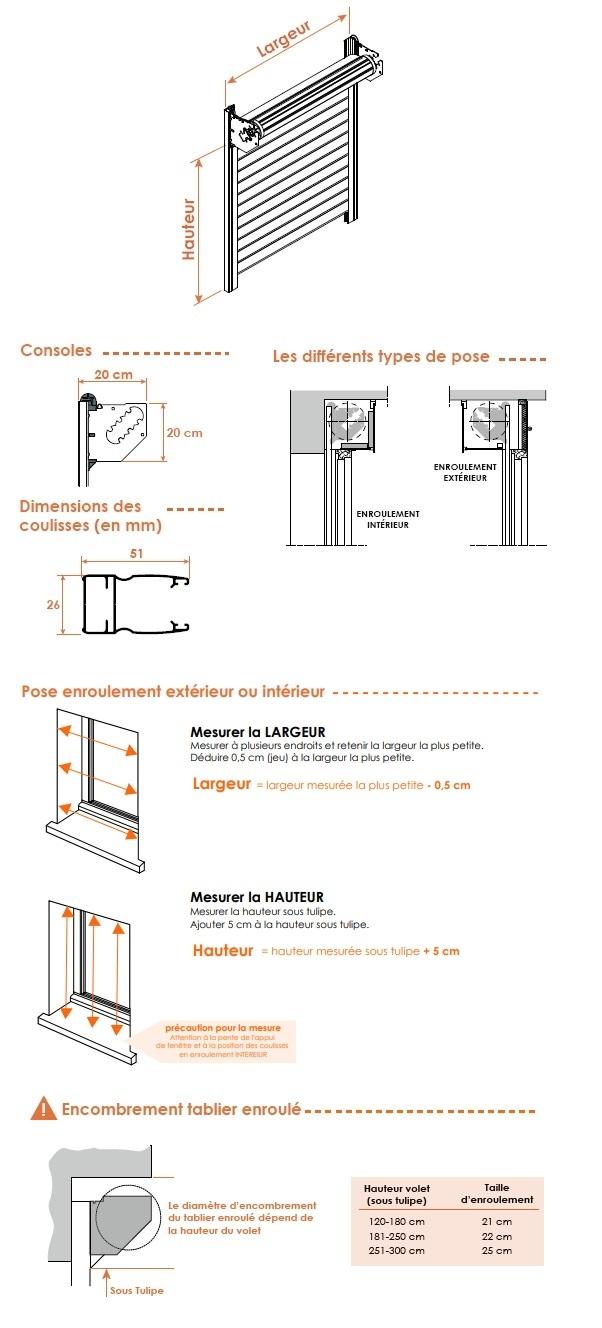Dimension Caisson Volet Roulant Store Vertical Exterieur Coffre