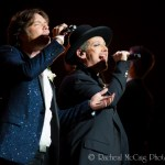 Rufus and Boy George duet at the world premiere of If I Loved You: Gentleman Prefer Broadway. Sony Centre for the Performing Arts, Toronto. June 14, 2014.
