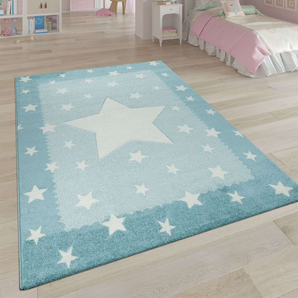 Short Pile Children S Room Rug Star Design Rug24