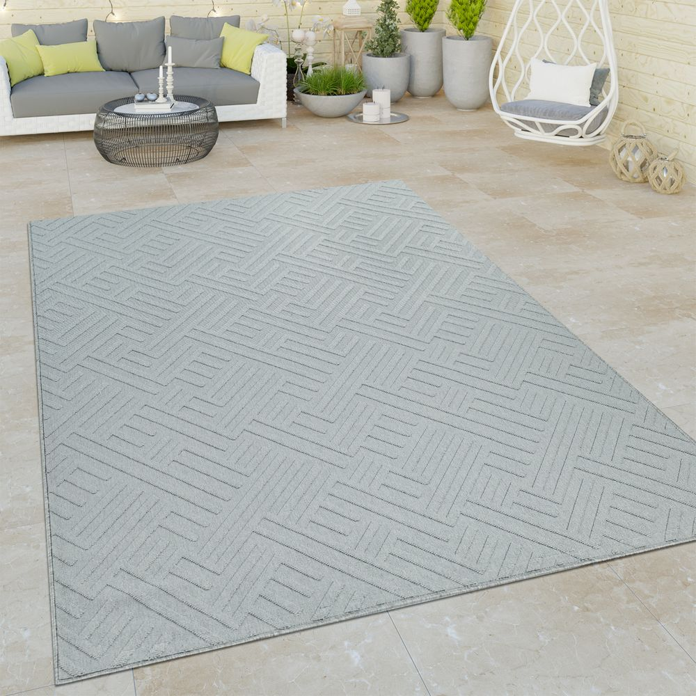 Indoor Outdoor Flat Weave Rug Geometric Rug24
