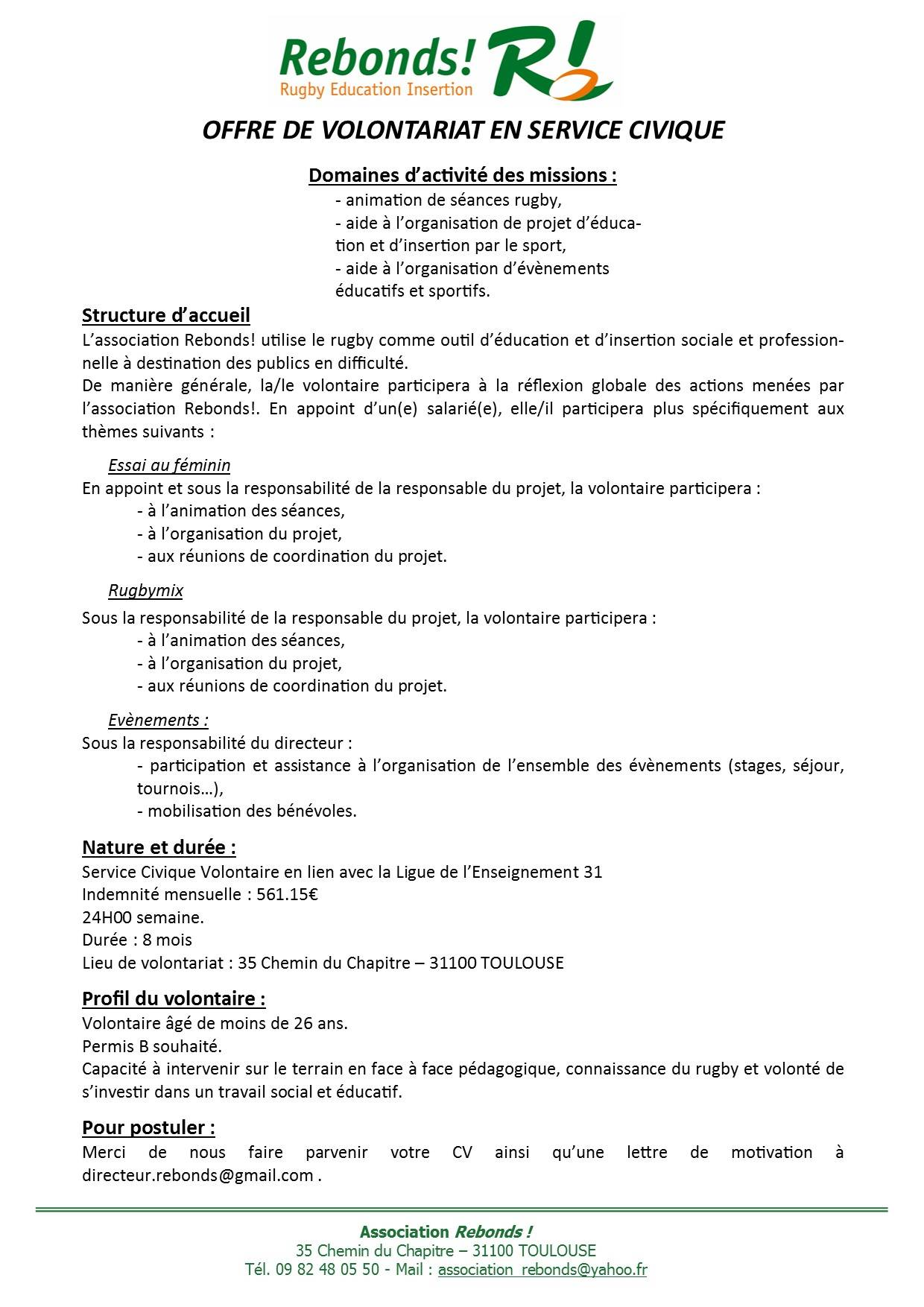 cv service civique exemple