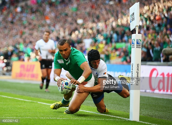 during the 2015 Rugby World Cup Pool D match between Ireland and Romania at Wembley Stadium on September 27, 2015 in London, United Kingdom.