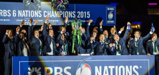 21 March 2015; Ireland captain Paul O'Connell lifts the RBS Six Nations Rugby Championship trophy. RBS Six Nations Rugby Championship, Scotland v Ireland. BT Murrayfield Stadium, Edinburgh, Scotland. Picture credit: Brendan Moran / SPORTSFILE