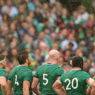 2015 Rugby World Cup Warm-Up Match, Aviva Stadium, Ireland 29/8/2015 Ireland vs Wales Ireland team General View Mandatory Credit ©INPHO/Billy Stickland