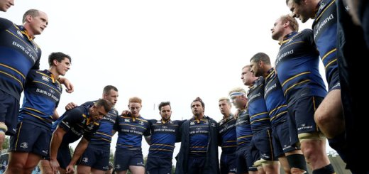 European Rugby Champions Cup Round 1, RDS Arena, Dublin 15/10/2016 Leinster vs Castres Olympique Leinster's Isa Nacewa talks to his team after the game  Mandatory Credit ©INPHO/Dan Sheridan