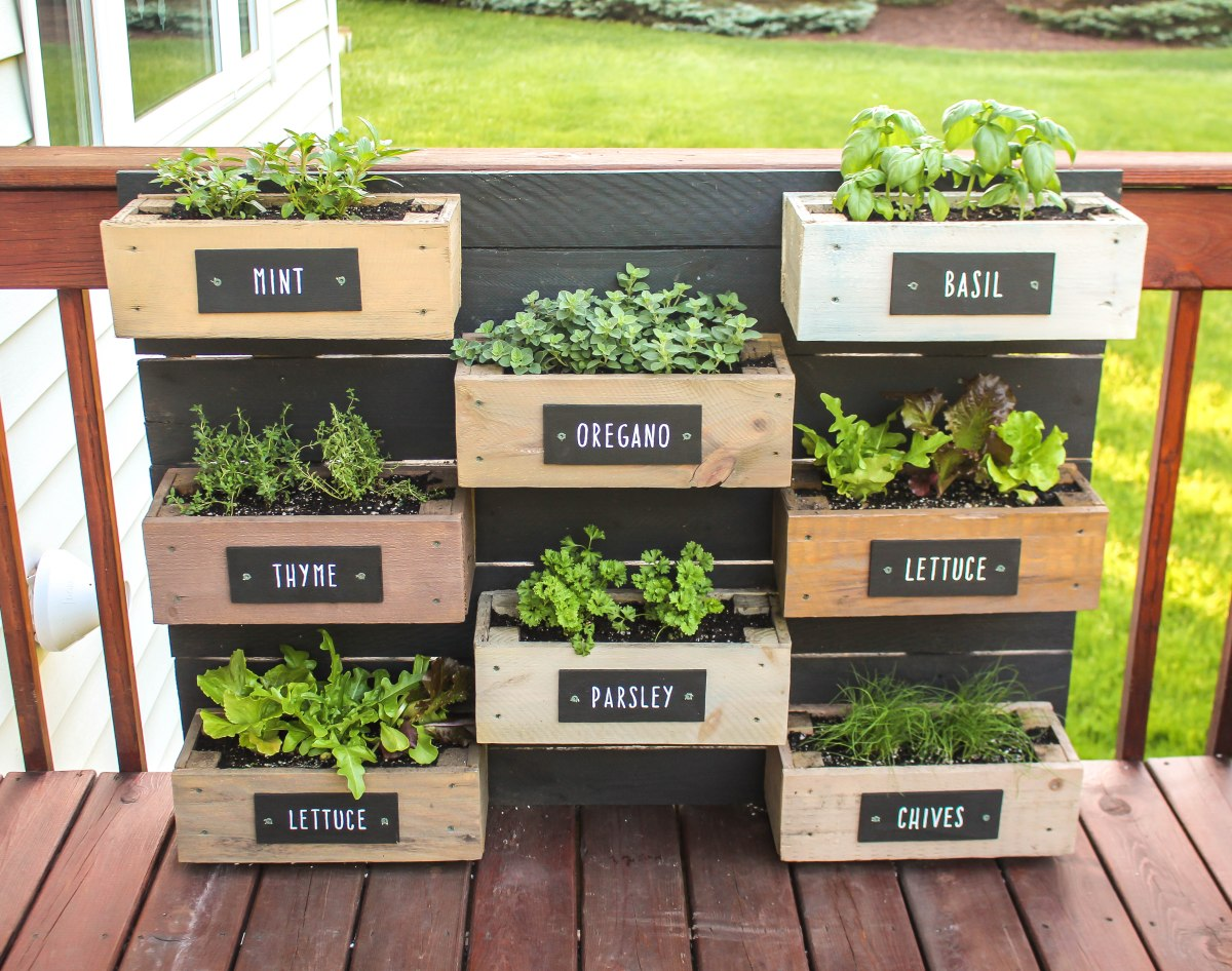 Herb Wall Herb Wall Planter Ruggy Diy