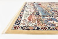 Traditional Large Persian Design Rug Animal Pattern Small ...