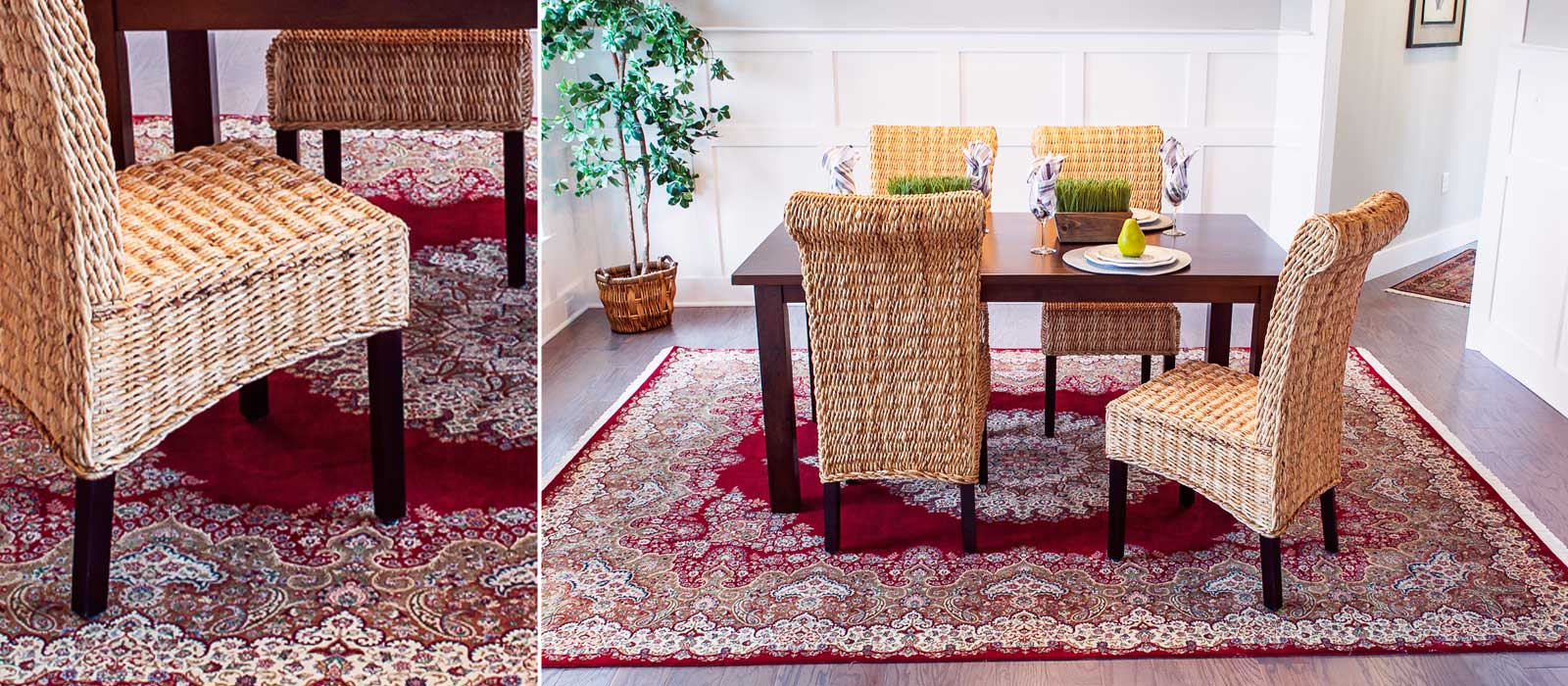 Dining Room Carpet Rug Event In Evanston Ilfair Trade Bunyaad Rugs