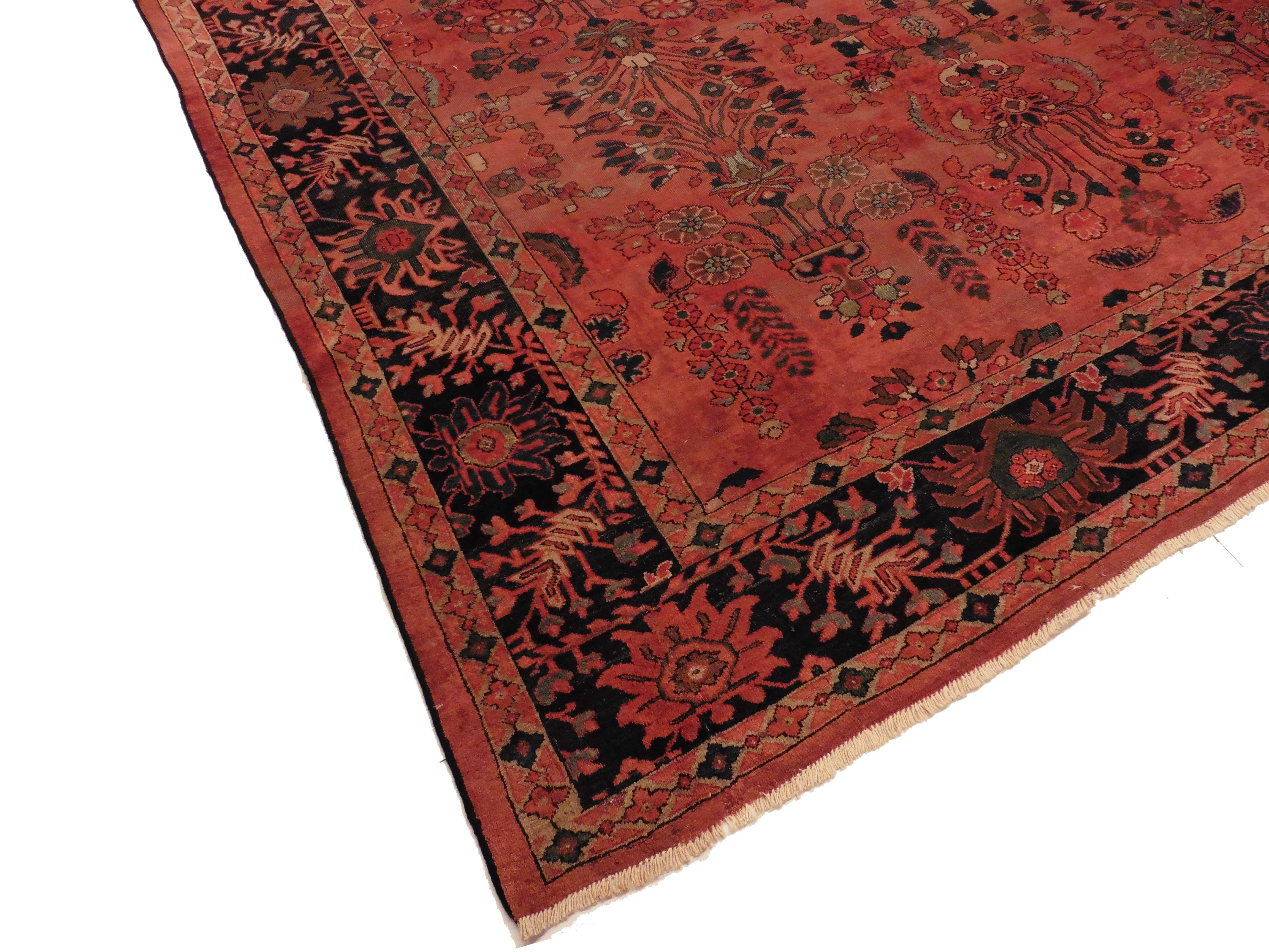 10x14 Rug Antique Persian Mahal 10x14 Wool Rug 3901
