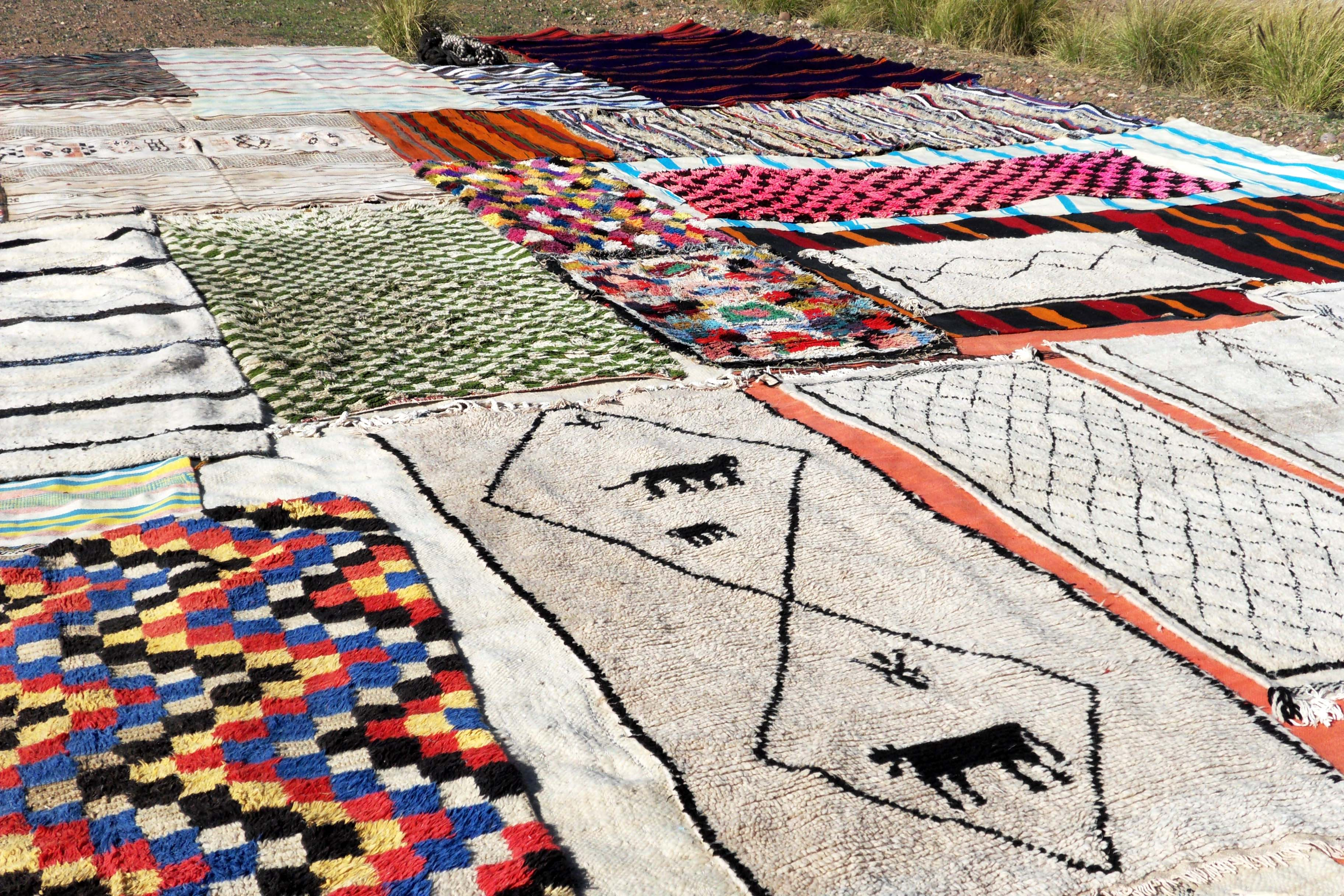 Berber Teppiche Marrakesch Rugs Of Morocco Colourful Berber Rugs Old Weaving From