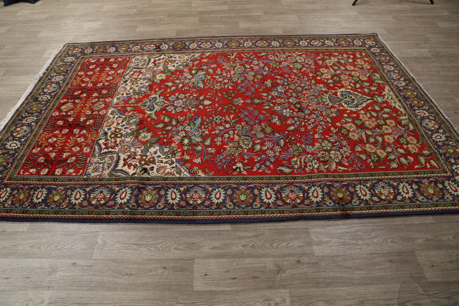 6x10 Kashan Persian Area Rug