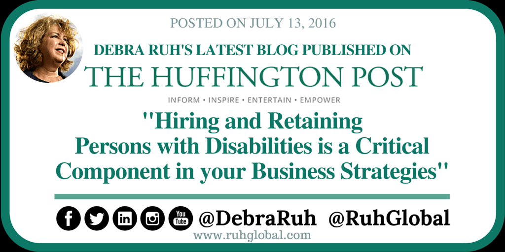 Hiring and Retaining Persons with Disabilities is a Critical Component in your Business Strategies