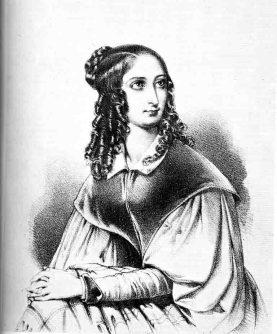 """Flora Tristan auf einer Zeichnung von Adolphe Constant, 1840 in der Zeitschrift """"Les belles femmes de Paris"""" veröffentlicht. Foto: LWL"""