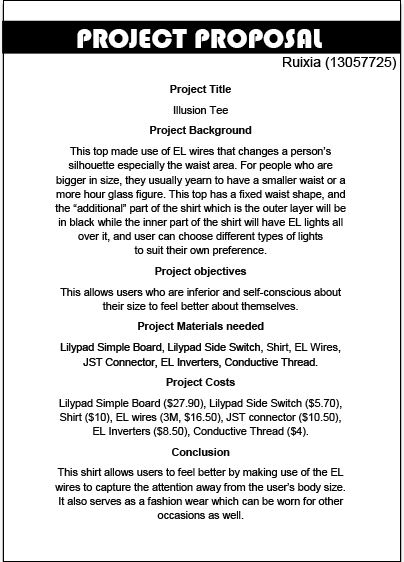 Proposal For A Project Example Of Project Proposal Project - proposal for a project