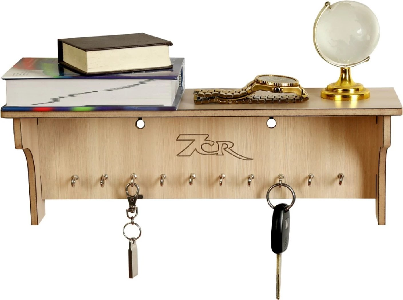 Wooden Key Holder With Shelf 7cr Wooden Key Holder Price In India Buy 7cr Wooden Key
