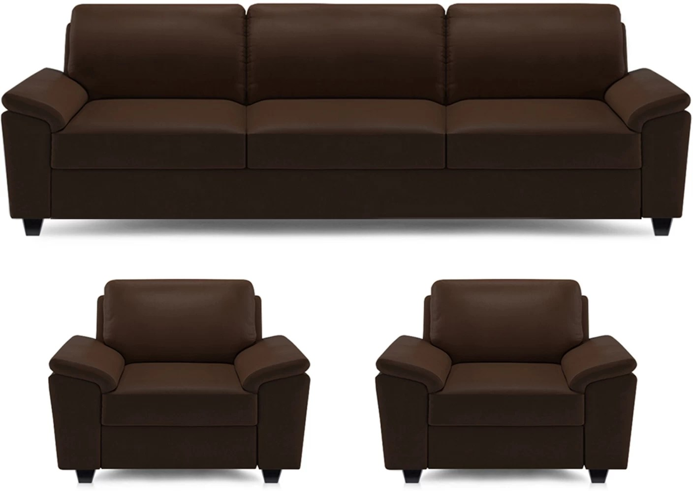 Sofa Set Price Haldwani Dolphin Oxford Leatherette 3 43 1 43 1 Brown Sofa Set Price