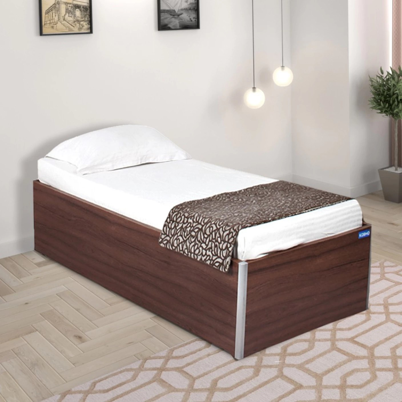 Single Bed Price Spacewood Day Engineered Wood Single Bed With Storage