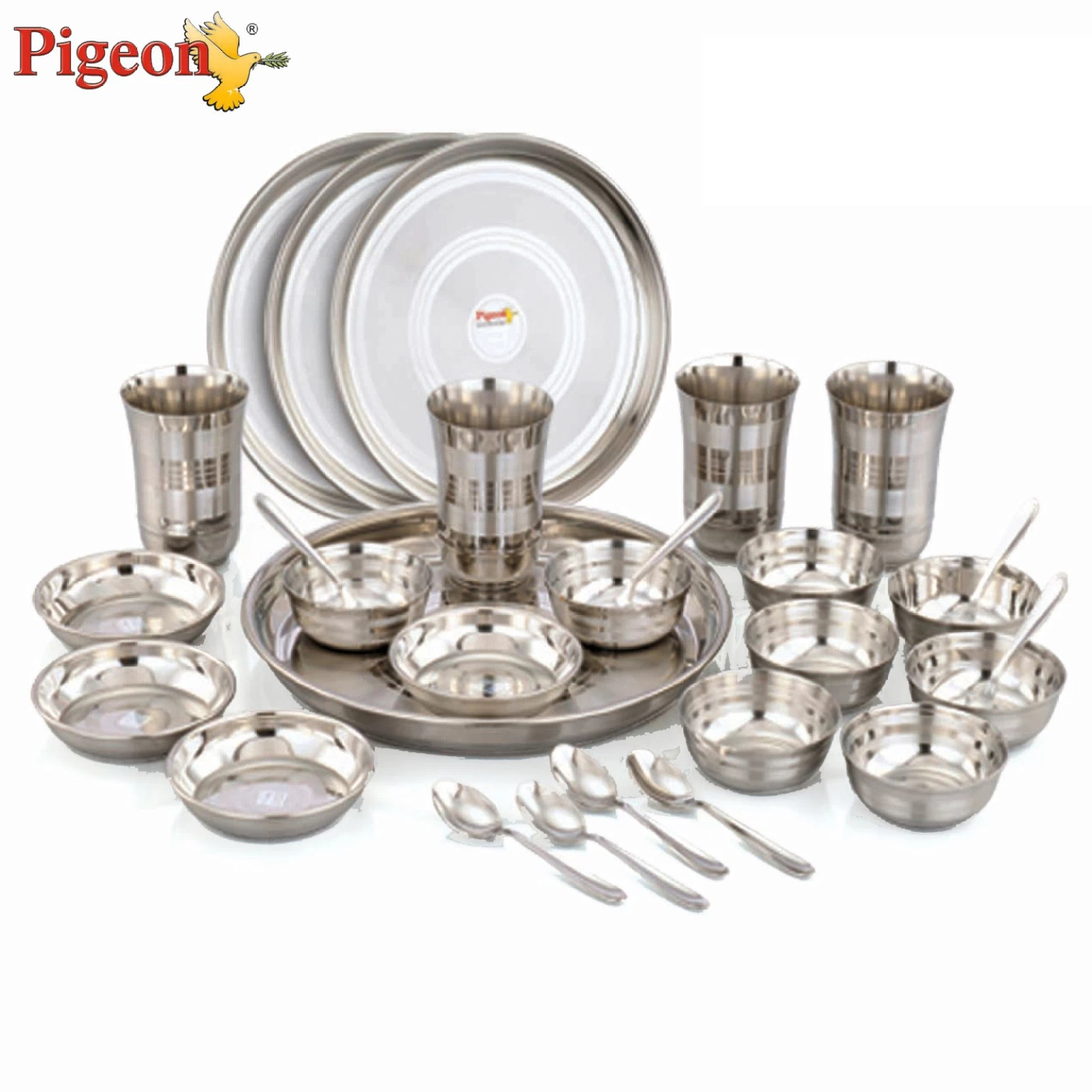 Dinner Set Pigeon Lunch Set Pack Of 28 Dinner Set Price In India