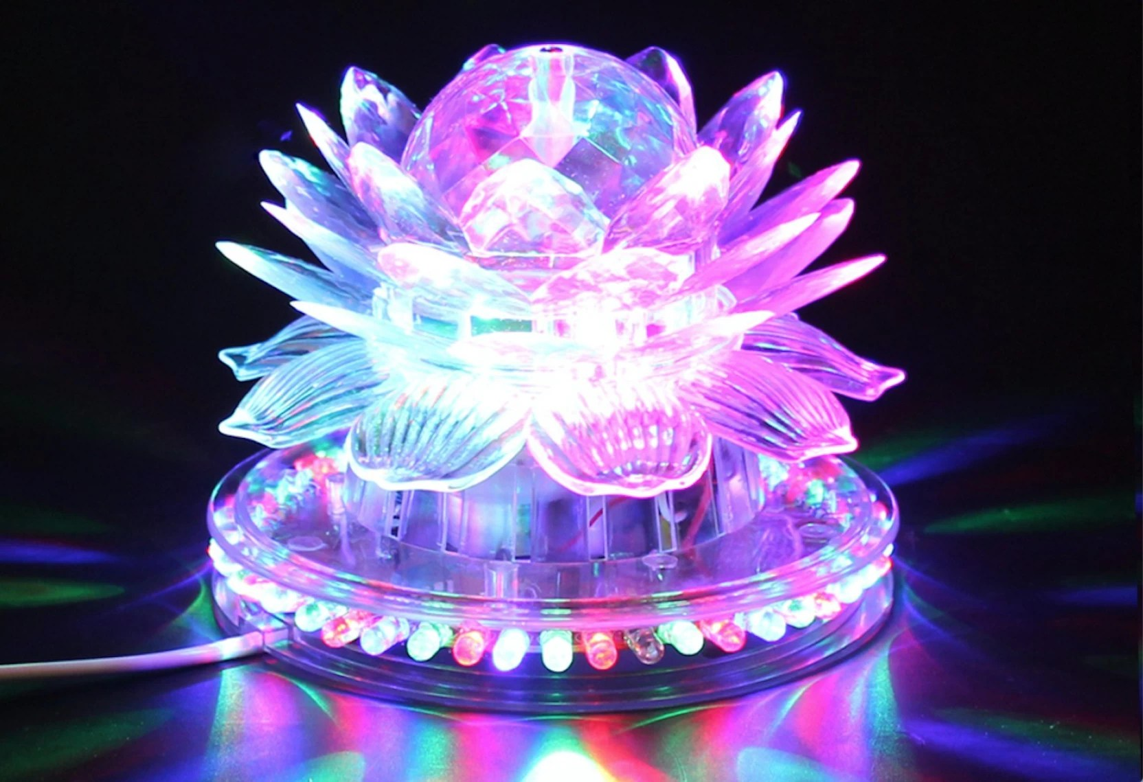 Light Decoration Diwali A To Z Traders Lotus Rotating Flashing Dj Laser Led Light Disco Party Diwali Home Decoration Table Lamp