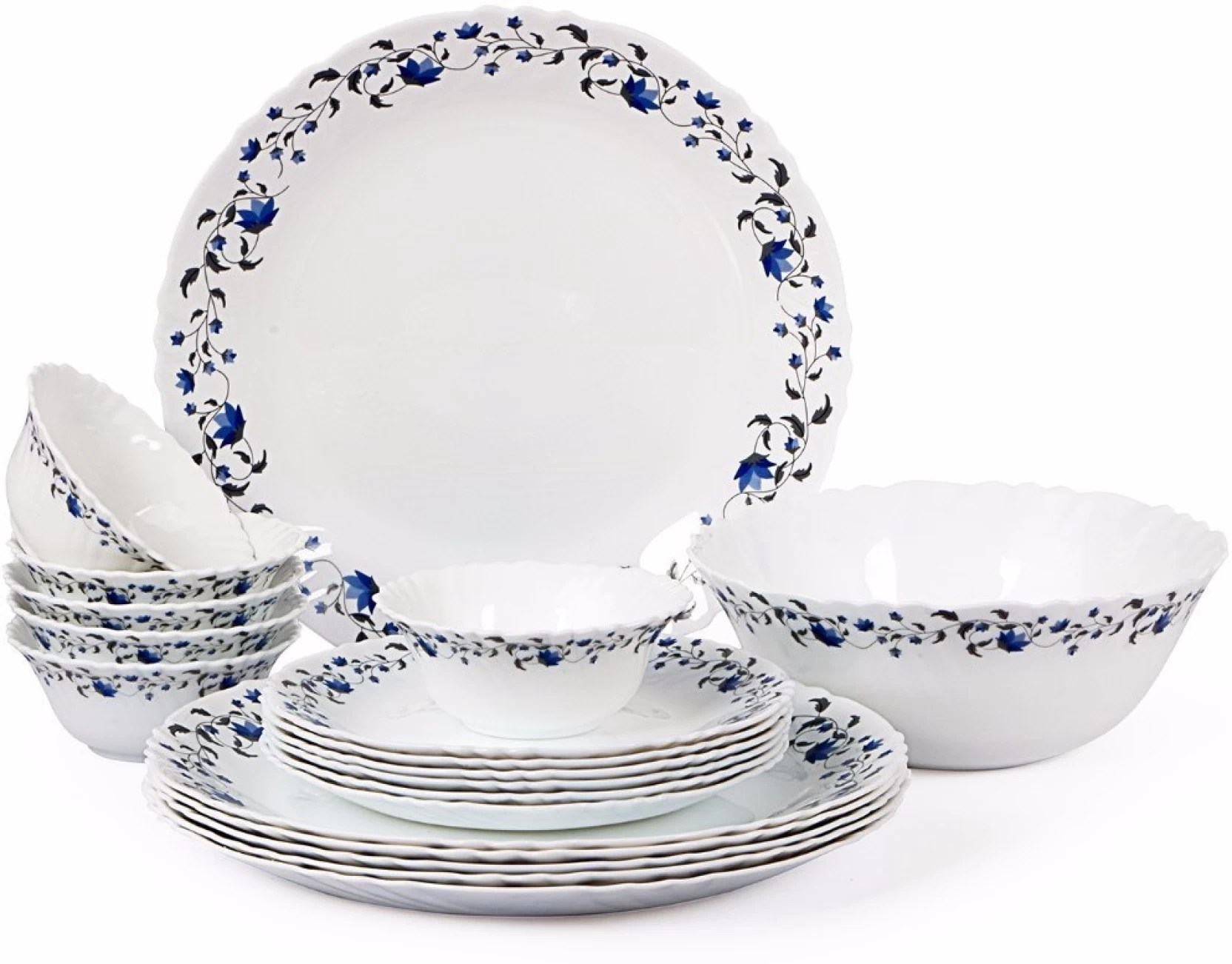 Dinner Set Cello Imperial Vinea Pack Of 19 Dinner Set Price In India