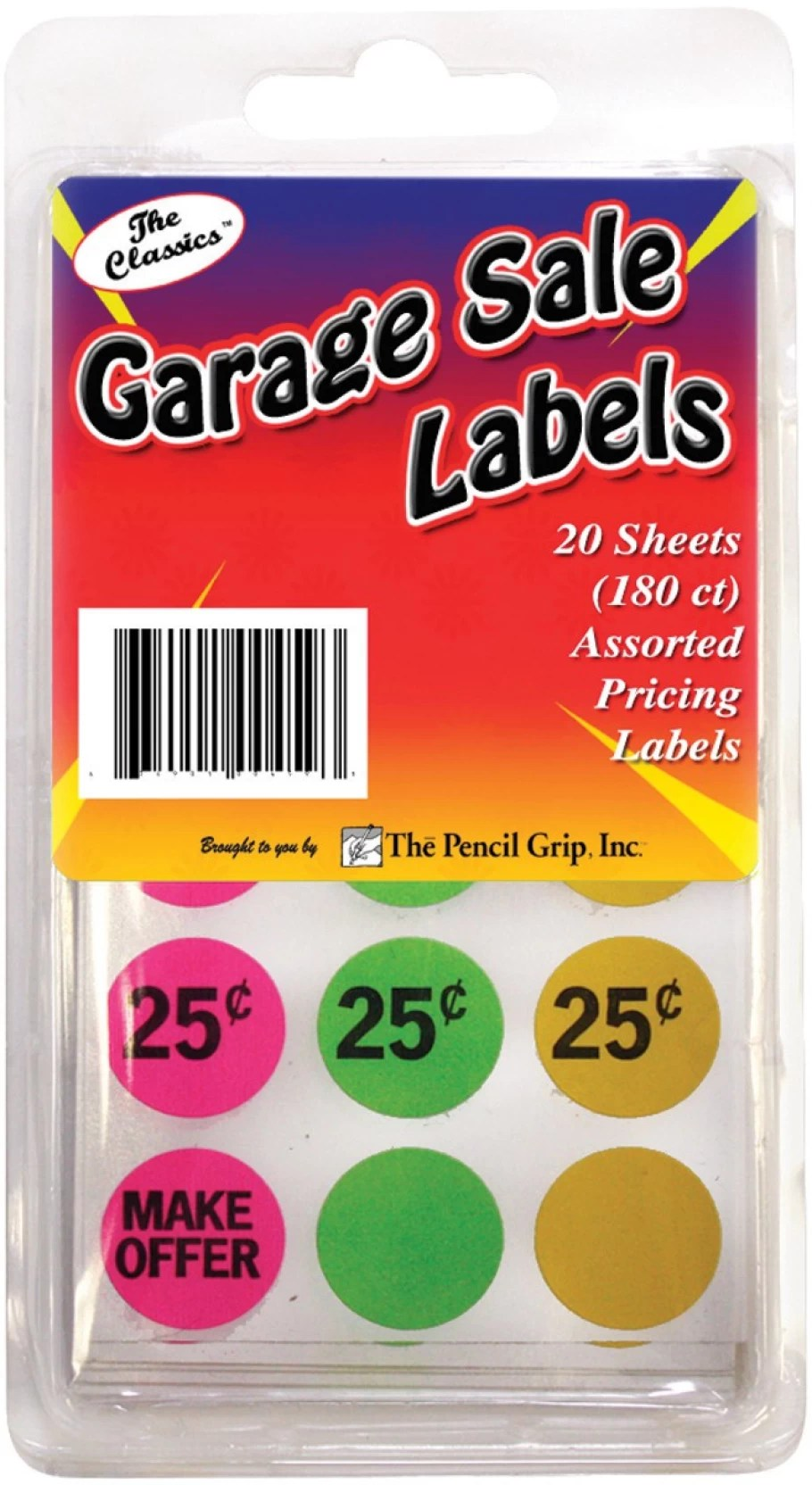 Garage Sale Price Stickers The Pencil Grip Garage Sale Price Stickers 180 Per Package