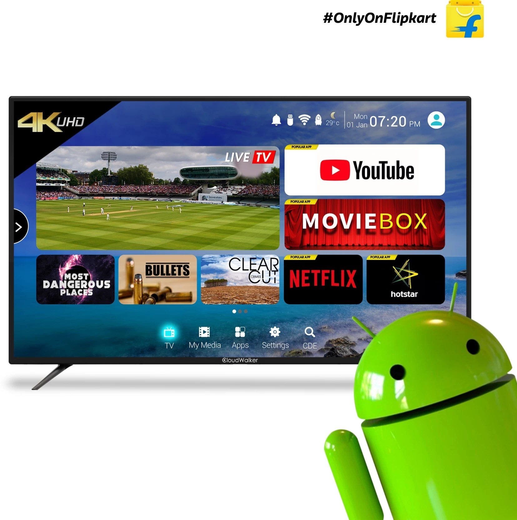 43 Inch Tv Cloudwalker 109cm 43 Inch Ultra Hd 4k Led Smart Tv