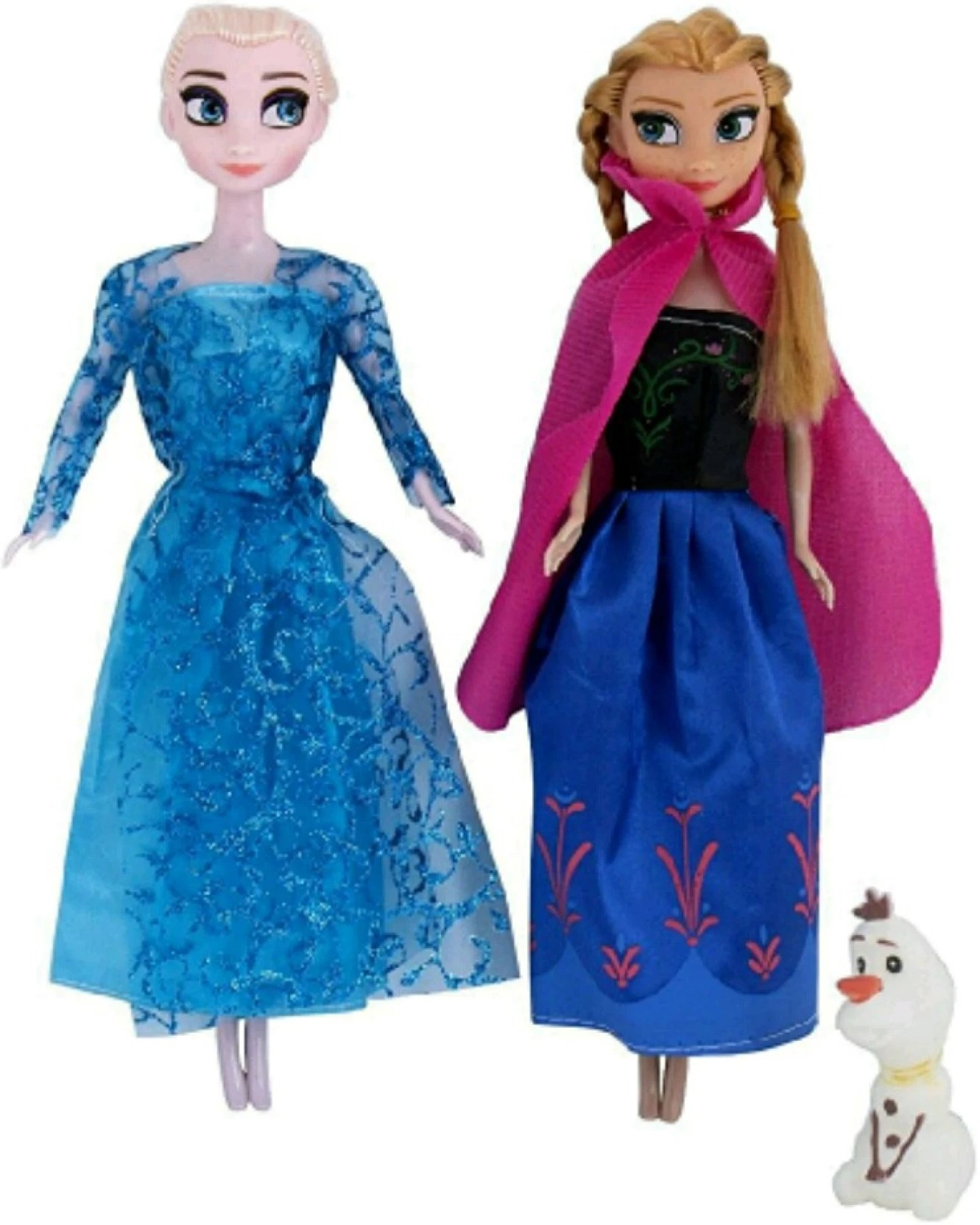 Elsa Anna Yamama Presents Anna And Elsa With Olaf Frozen Doll Set