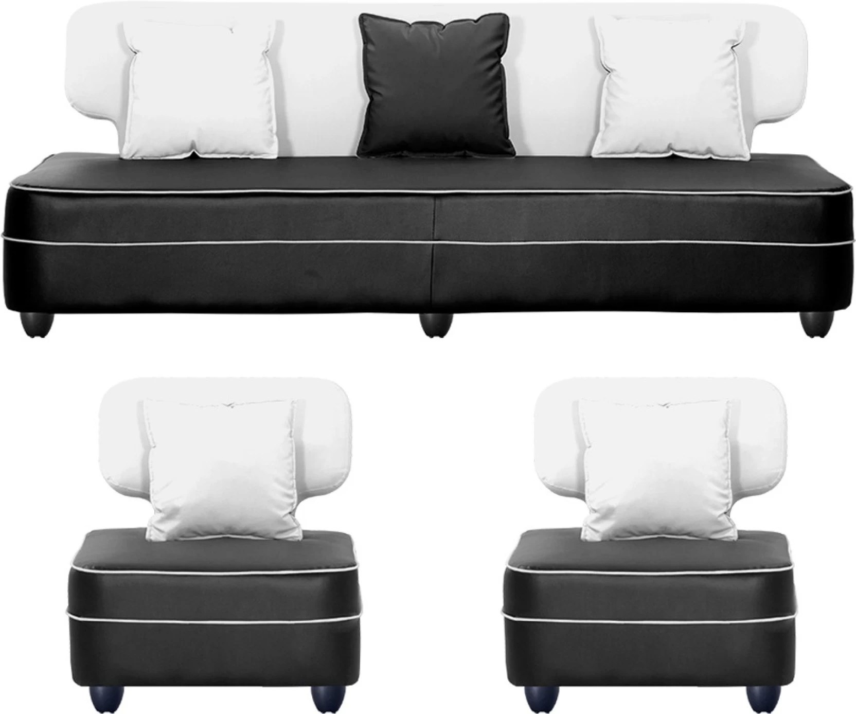 Bettsofa Interio Ch Bharat Lifestyle Butterfly Leatherette 3 1 1 White Sofa Set