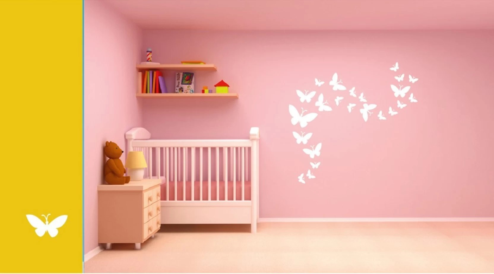 Butterfly Wall Stencils Painting Asian Paints Wall Stories Butterfly Diy Stencil Kit