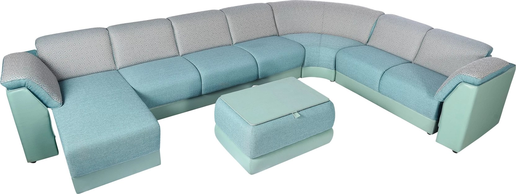 Interio Sofa Modular Godrej Interio Fabric 3 2 1 1 Teal Green Sofa Set Price In