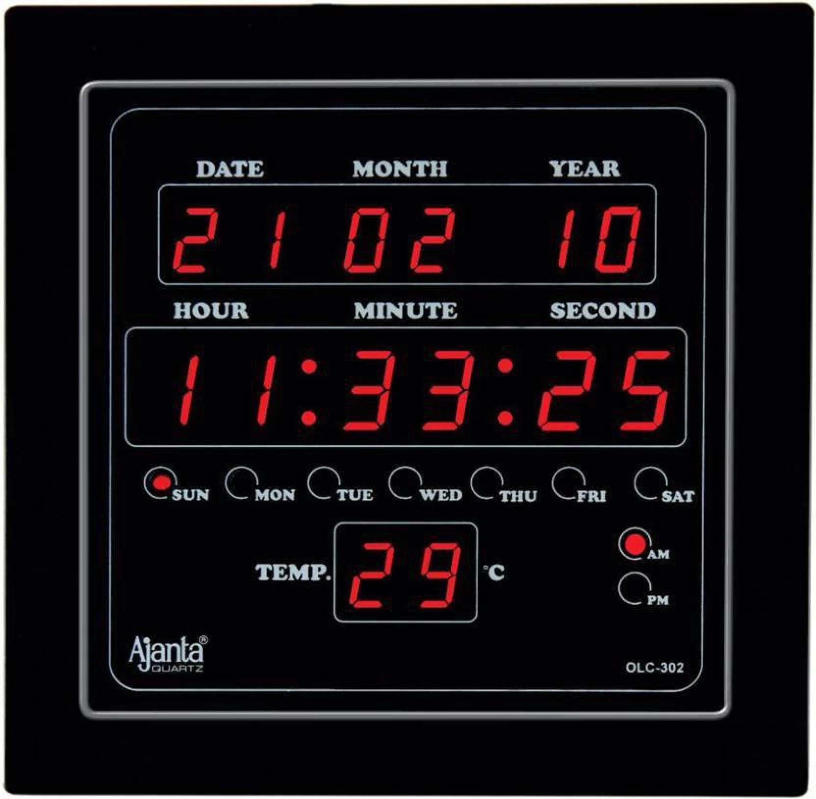 Digital Clock Ajanta Digital 25 4 Cm X 25 4 Cm Wall Clock