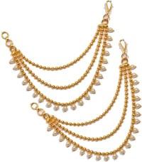 Flipkart.com - Buy Pourni Ear Chain Kaanchain Brass Clip ...