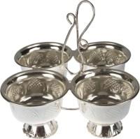 Abhushan Haldi Kumkum Bowl Set Silver Plated Pooja & Thali ...