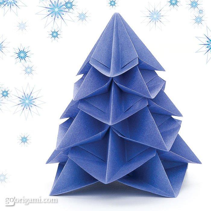 Origami Christmas  Tree-1