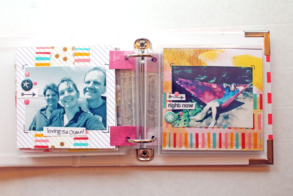 Katie's Summer Travels mini album. Punk Projects for rukristin.