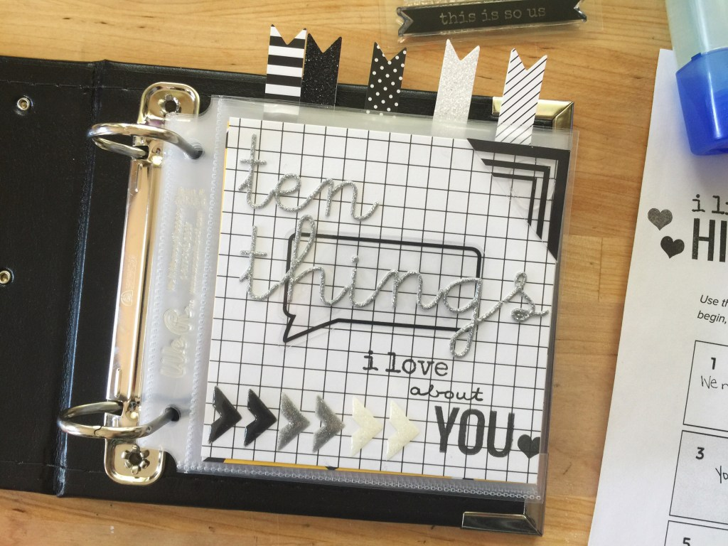 rukristin Ten Things I Love About You Scrapbook Workshop