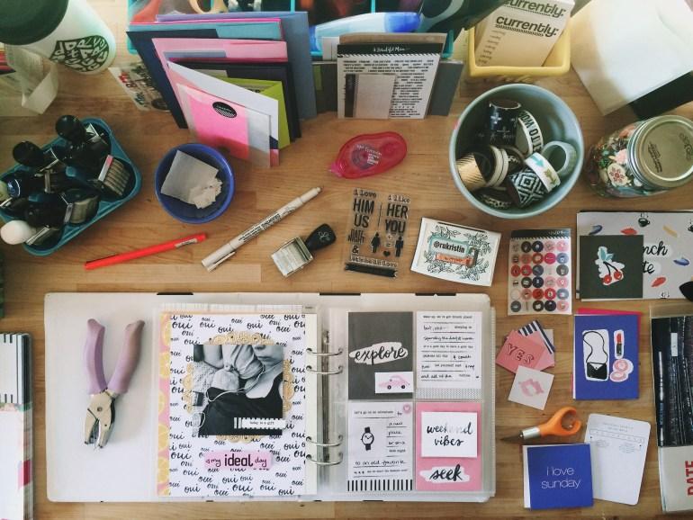 Developing your Scrapbook style rukristin deskshot