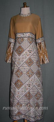 Gamis Batik Bordir Kombinasi Pelauts