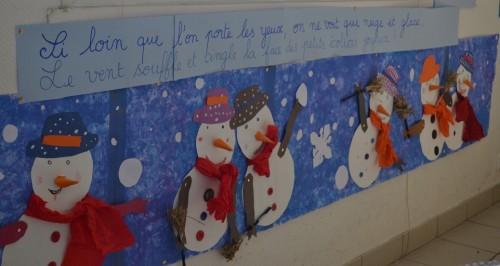 Classe de CP: Notre fresque hivernale !