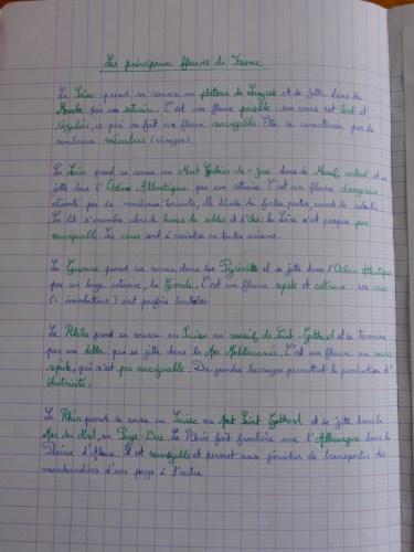 Étude des fleuves de France en classe de CM1