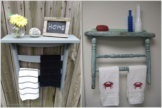 Towel Hanger 15 Creative Ideas To Repurpose And Upcycle Old Chairs