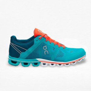 Tenis On Cloudflow Verde/Naranja - Run4You.mx