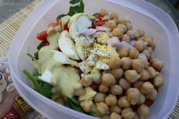 Chickpeas and Eggs Salad Style