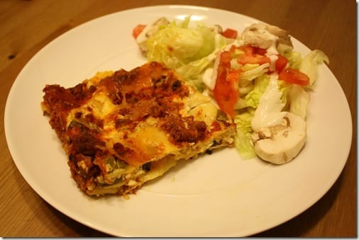 IMG 6697 thumb Meatless Monday– Winging it Lasagna