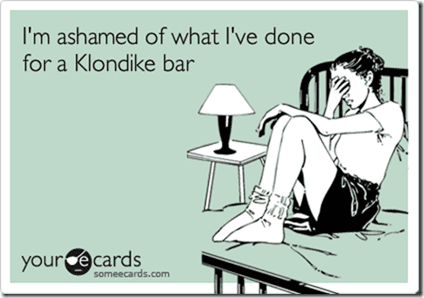 klondike bar thumb Confession Thursday–Stay Away from My Dressing