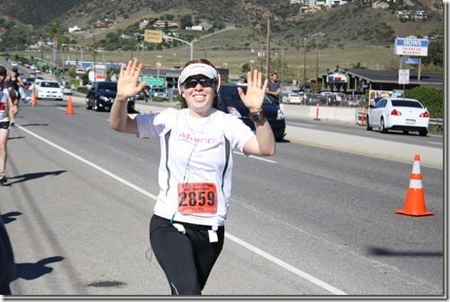 monica running thumb Pile On The Miles 2011