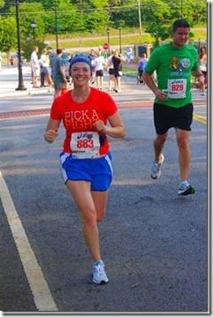 running thumb Faith Fitness Fun Runs and Eats too